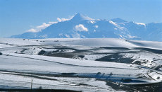 Вид на гору Казбек, Республика Ингушетия. Архивное фото
