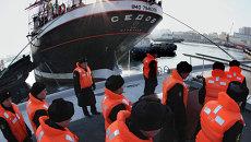Прибытие барка Седов во Владивосток