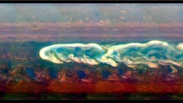 """Ураган-""""уроборос"""", обнаруженный на Сатурне автоматическим зондом НАСА """"Кассини"""""""
