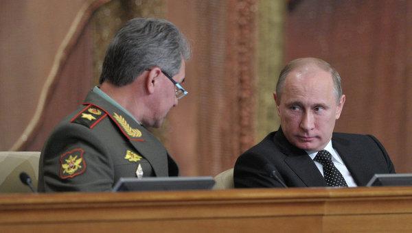 В.Путин на заседании Коллегии министерства обороны РФ