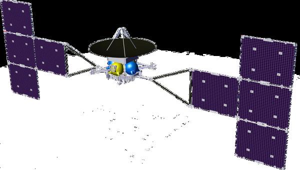 Российский орбитальный зонд для исследования Ганимеда, вариант с солнечными батареями