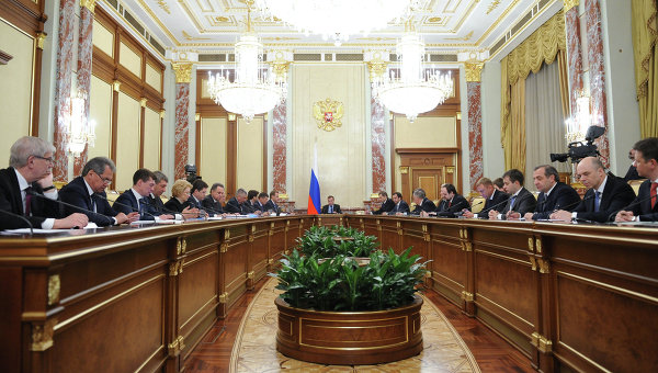 Д.Медведев проводит заседание правительства РФ. Архивное фото