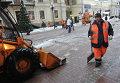 Расчистка улиц от снега после снегопада