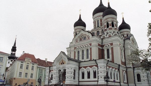 Кафедральный собор Святого князя Александра Невского, построенный в 1900 году в Таллине