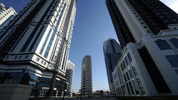 Вид на комплекс высотных зданий Грозный Сити в Грозном. Архивное фото
