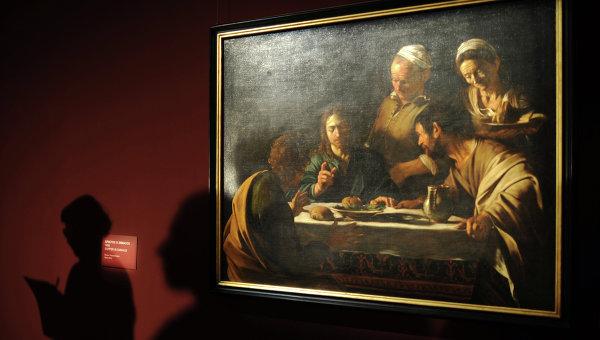 Открытие выставки работ Микеланджело да Караваджо в ГМИИ имени А.С. Пушкина. Архивное фото