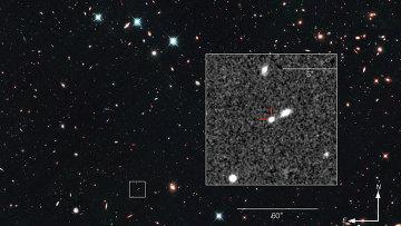 Самая далекая сверхновая, обнаруженная космическим телескопом Хаббл