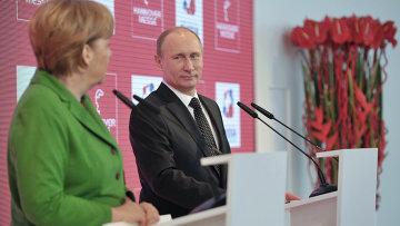 Владимир Путин и Ангела Меркель. Архивное фото