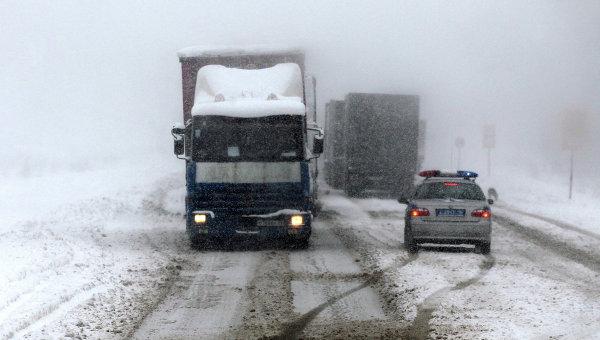 Сильный снегопад в Татарстане. Архивное фото