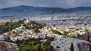 Вид на город Афины. Архивное фото.