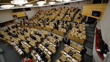 Пленарное заседание Госдарственной Думы РФ