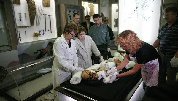 Транспортировка мумии Принцессы Укока