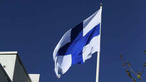 Флаг Финляндии, архивное фото