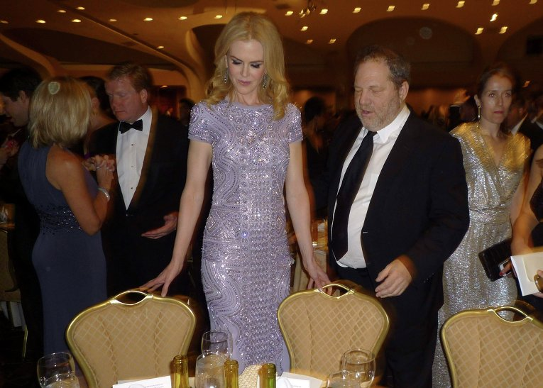 Николь Кидман и Харви Вайнштейн на ужине Ассоциации журналистов Белого дома