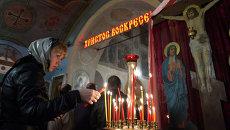 Празднование Пасхи в Воскресенском Храме села Сушки Рязанской области