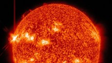 Вспышка на Солнце утром во вторник