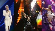 Огненные гитары и лазерное шоу на репетиции второго полуфинала Евровидения