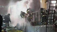 Судно Тайган с моряками-россиянами дымилось и горело в японском порту