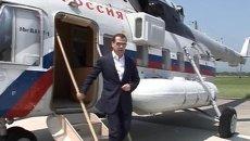 Полеты государственной важности: Путин и Медведев на вертолетах