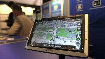 Автомобильный спутниковый ГЛОНАСС навигатор, архивное фото