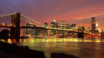 Бруклинский мост в Нью-Йорке, США. Архивное фото