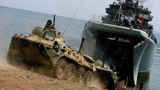 Учения морской пехоты ТОФ в Приморье