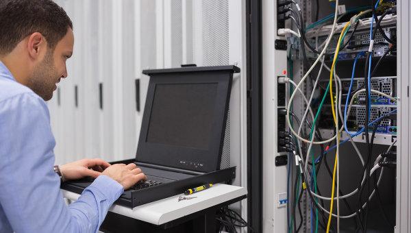 Работа с сервером. Архивное фото