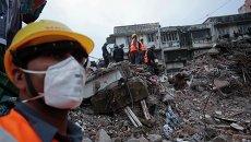 В индийском городе Мумбаи произошло частичное обрушение четырехэтажного жилого здания