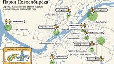 Сервисы для активного отдыха и досуга в парках Новосибирска
