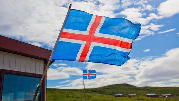 Флаг Исландии. Архивное фото
