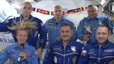 Экипаж МКС поздравил Терешкову с 50-летием ее первого полета в космос