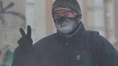 Морозы в Томске, архивное фото