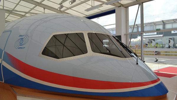Макет ближне-среднемагистрального пассажирского самолета Иркут МС-21