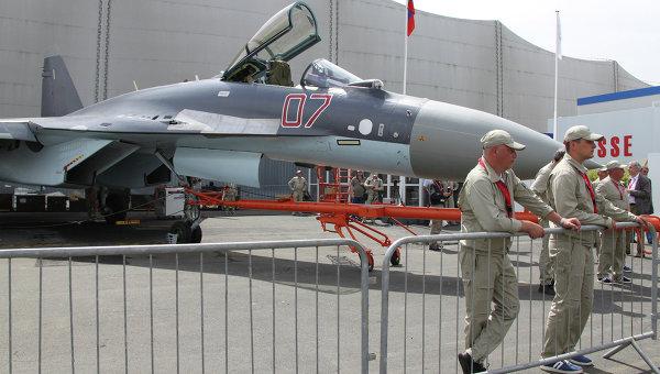 Российский многоцелевой сверхманевренный истребитель Су‑35С. Архивное фото