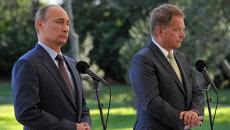 Визит В.Путина в Финляндию