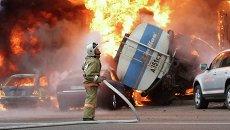 Последствия ДТП с бензовозом в Алма-Ате