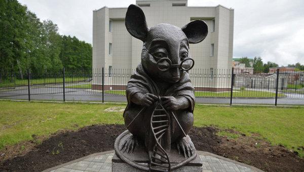 Памятник лабораторной мыши в Новосибирске