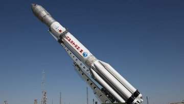 Ракета-носитель Протон-М на космодроме Байконур. Архивное фото