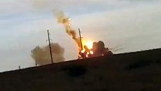 Ракета-носитель Протон-М упала и взорвалась после старта. Съемка очевидца
