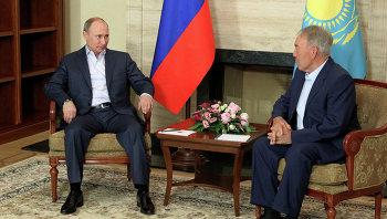 Визит В.Путина в Казахстан, архивное фото