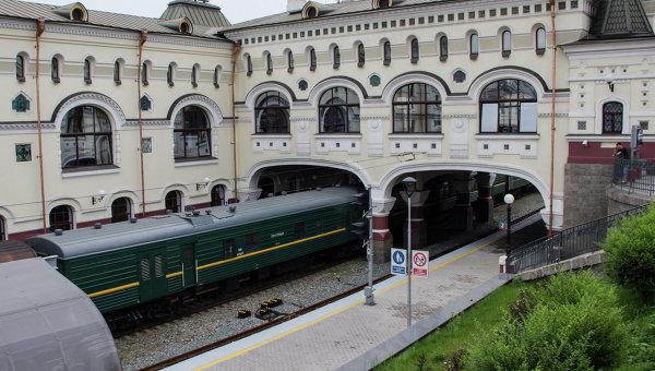 ЖД-вокзал - конец Транссиба во Владивостоке. Архивное фото