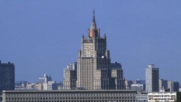 Вид на здание МИД РФ на Смоленской площади в Москве. Архивное фото