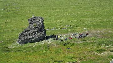 Туристическая группа на перевале Дятлова. Архивное фото