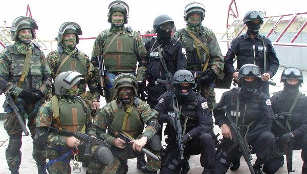 Бойцы дальневосточного отряда Альфа на российско-корейских учениях