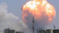 Первые кадры из сирийского города Хомс, где прогремел взрыв и погибли люди