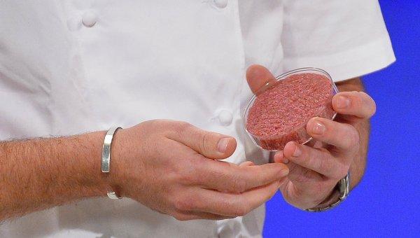 Первый синтетический бургер