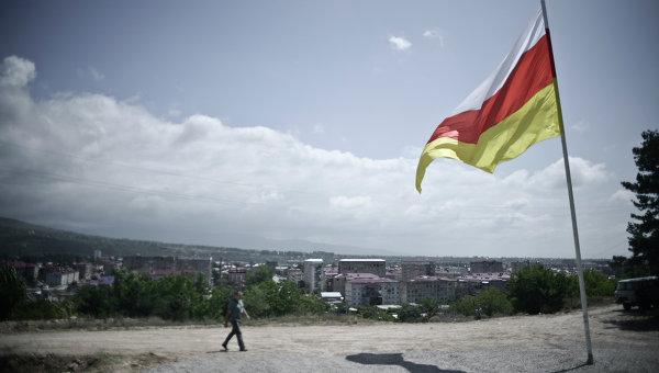 Флаг Южной Осетии. Архивное фото