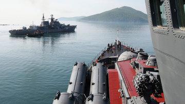 Учения кораблей Тихоокеанского флота России. Архивное фото