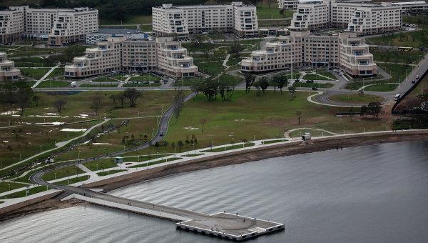 Корпуса Дальневосточного федерального университета на острове Русский во Владивостоке. Архивное фото