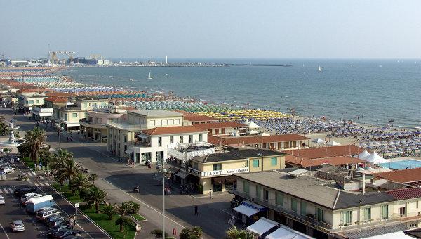 Город Форте-дей-Марми в итальянской Тоскане